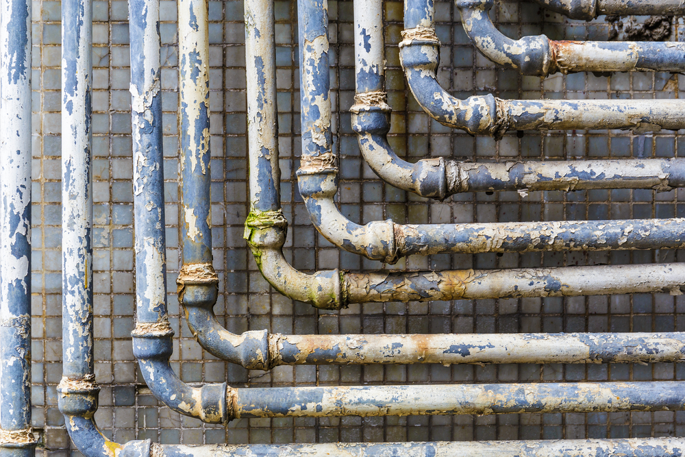 old lead pipes